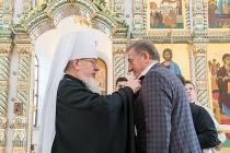 Воронежский сенатор Сергей Лукин удостоен высокой епархиальной награды