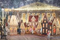 В Воронеже представили оформление площади Ленина к Новому году