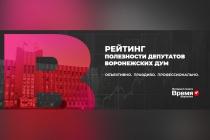 В Воронежской области представят итоги рейтинга полезности депутатов