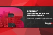 В Воронежской области подвели итоги рейтинга полезности депутатов