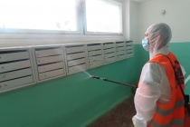 За три выходных в Воронеже дезинфицировали более 2 тыс. многоэтажек