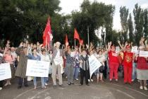 В Воронеже митинг против повышения пенсионного возраста раскололся надвое