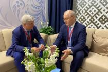 Воронежский губернатор заинтересовал владельца крупной компании реконструкцией Петровской набережной