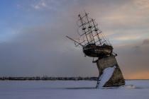 В Воронеже начался демонтаж макета корабля «Меркурий»