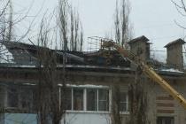 В Воронеже провалилась кровля многоэтажки