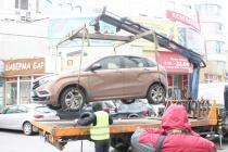 В центре Воронежа Госавтоинспекция провела показательную эвакуацию