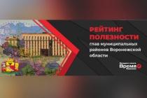 Подведены итоги онлайн-голосования «рейтинга полезности глав муниципальных районов Воронежской области»