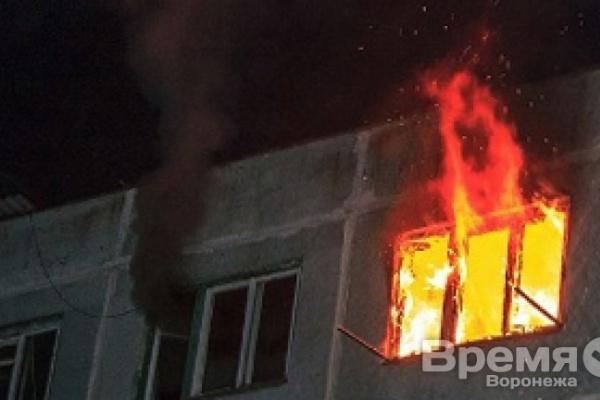 В Воронеже вспыхнул пожар в доме около  «Пролетария»