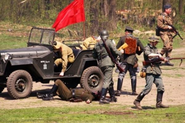 Парк «Динамо» стал местом военных действий