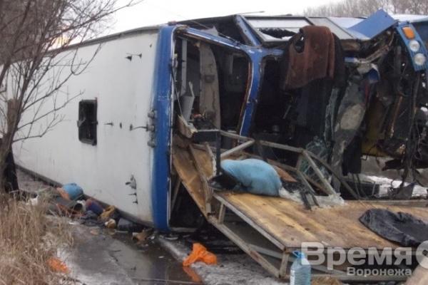 В аварии с участием автобуса в Воронежской области пострадали три человека