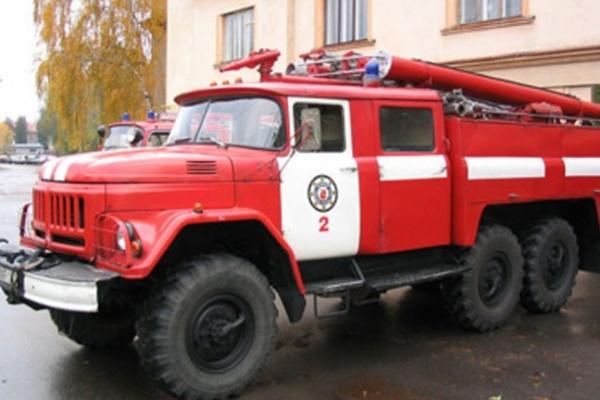 У площади Ленина сгорело офисное здание