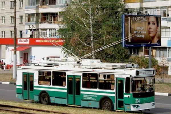 Из центра Воронежа изгоняют троллейбусы