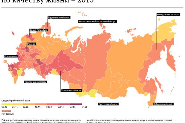 Воронежская область улучшила свои позиции в рейтинге качества жизни