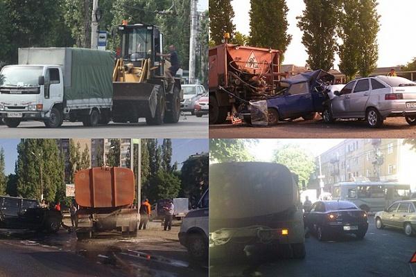 Дорожная техника мешается под колесами воронежских водителей