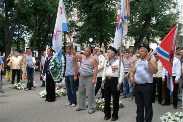 Воронеж очень скромно отметил день ВМФ