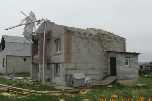 В Воронеже ветер сорвал крыши с 26 домов