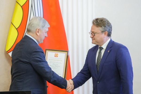 Мэр Воронежа Вадим Кстенин получил благодарность от президента