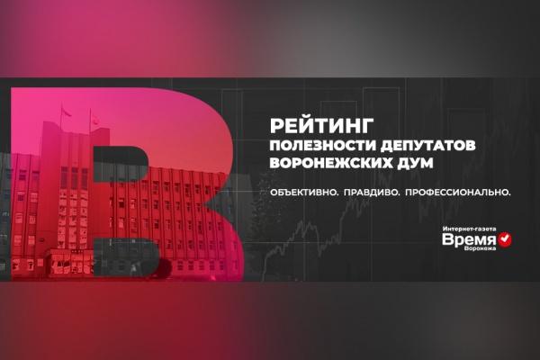 В Воронежской области составят рейтинг полезности депутатов