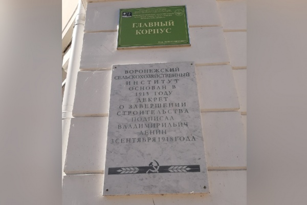 Воронежский вуз ответил на критику спорной мемориальной доски