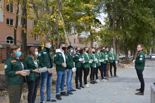 В Воронеже начали благоустройство сквера студенческих отрядов