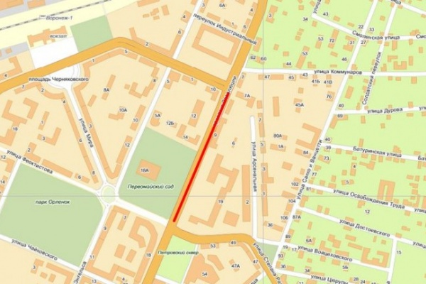 Сегодня главную улицу Воронежа снова перекроют