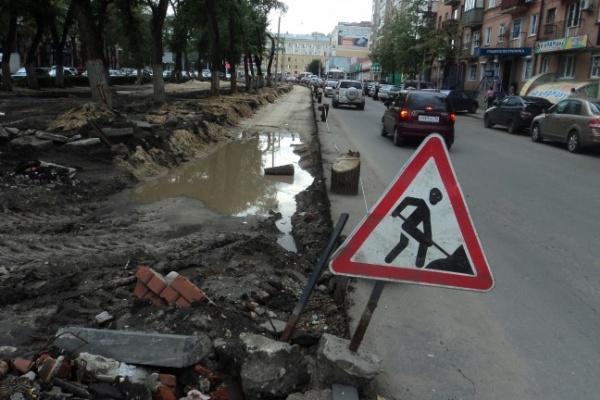 В ТЕМУ НЕДЕЛИ: В Воронеже дорожники не успевают к юбилею с ремонтом улицы Кольцовской