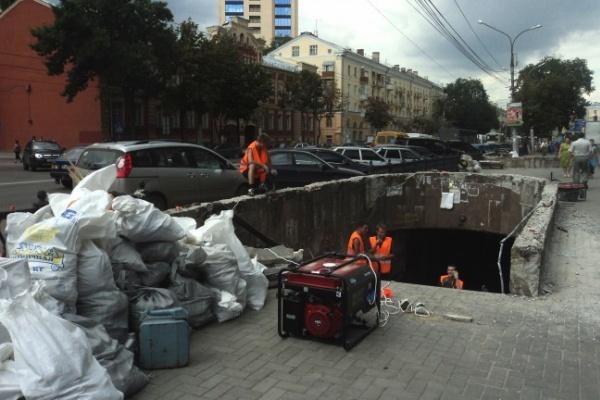 В ТЕМУ НЕДЕЛИ: В Воронеже начали ремонтировать подземный переход у «Детского мира»