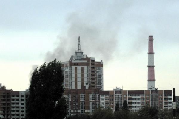 В Воронеже у завода «Сельмаш» вспыхнул пожар