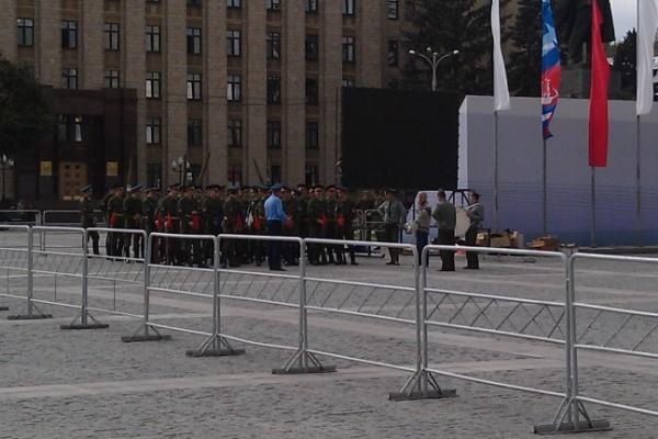 На площади Ленина в Воронеже отрепетировали открытие Дня города