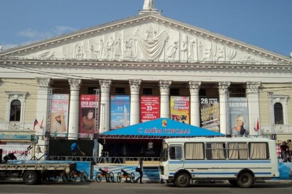 В Воронеже сцену торжественного открытия Дня города перенесли на новое место
