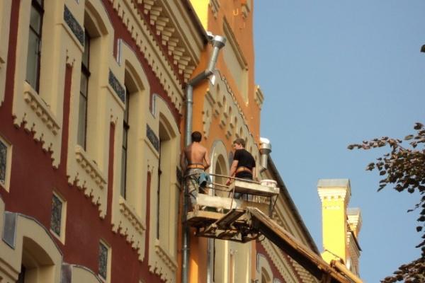 В Воронеже на проспекте Революции в спешном порядке докрашивают здания
