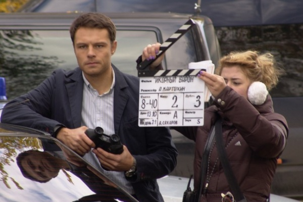 Журналисты воронежских СМИ побывали на съемочной площадке фильма «Икорный барон»