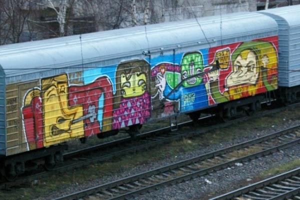 На железной дороге в Воронеже задержали двух несовершеннолетних граффитистов