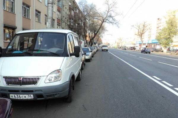 В Воронеже каждый день за неправильную парковку штрафуют всего 13 водителей