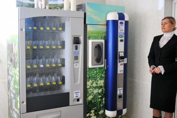 Молокомат установлен в одном из торговых центров Воронежа