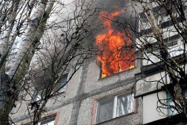В Воронеже горела шестнадцатиэтажка