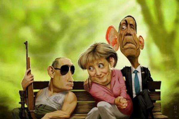 Встречаются как-то Путин, Меркель и Обама…