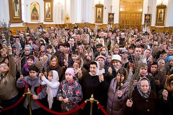 Воронежцы отмечают Вербное воскресенье