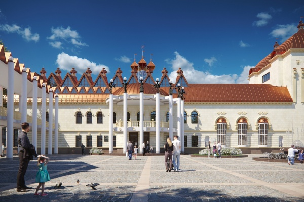 В Воронеже власти опровергли отделку фасада театра кукол керамогранитом