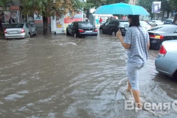 Воронеж тонет в потоках воды
