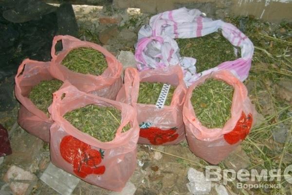 Под Воронежем наркотики прятали в клетке для кроликов
