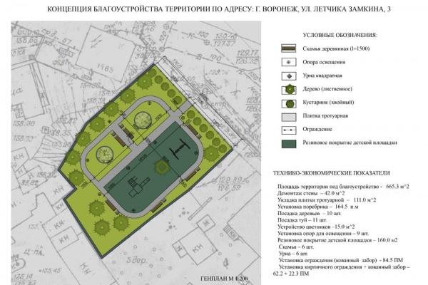 В центре Воронежа за «Петровским пассажем» появится Чернавский сквер