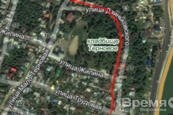 В Воронеже столб с проводами рухнул на дом