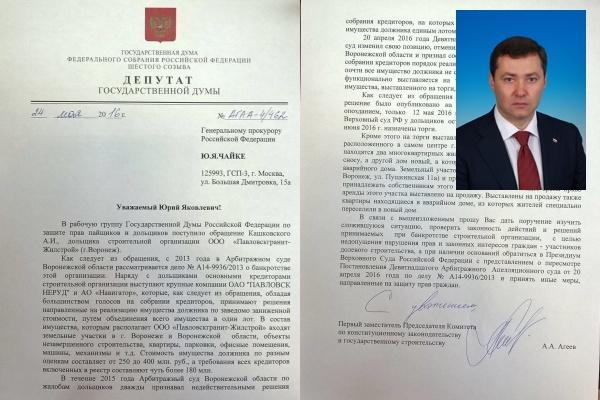 Воронежские чиновники выступили против прокурорского контроля над банкротством «Павловскгранит -Жилстроя»