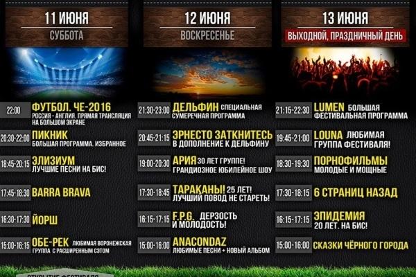 Фестиваль «Чайка» в Воронеже отказался от семи групп из-за финансовых трудностей