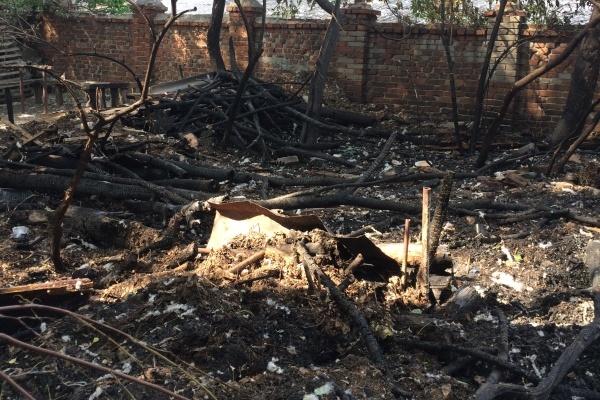 Дом Гарденина едва не сгорел