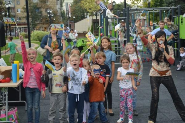 Воронежские строители подарили праздник детям микрорайона Придонской