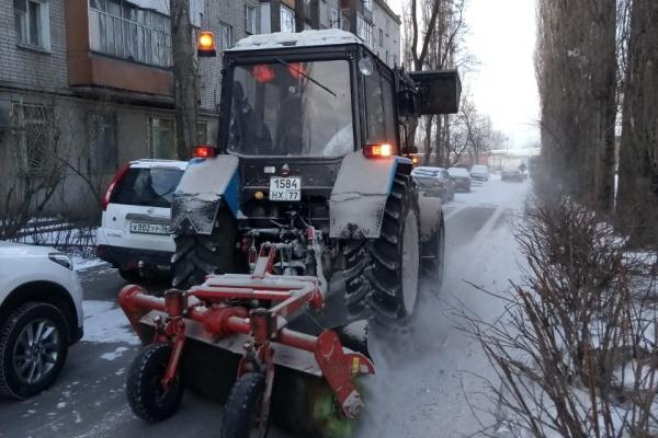 Воронежские УК полностью устранили последствия снегопада