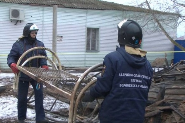 Расследовать пожар под Воронежем будут федеральные специалисты