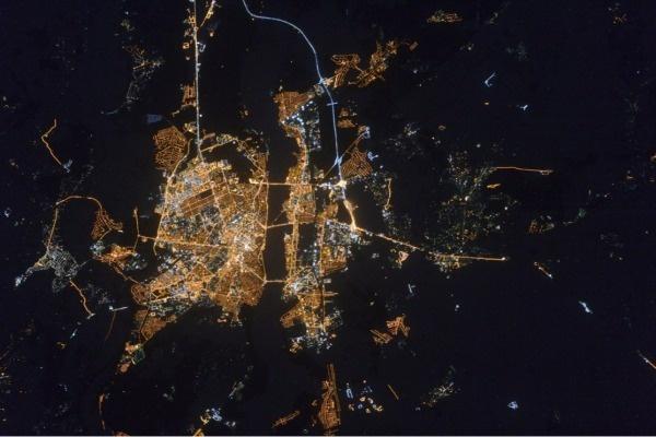 В интернете появилось фото с видом Воронежа из космоса